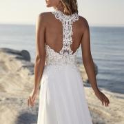 Theil vestido de boda con un diseño original en la espalda que te enamorará de Si Quiero Bilbao