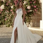 Turckheim vestido de novia de escote Ilusión que realza tu silueta para que luzcas espléndida de Si Quiero Bilbao