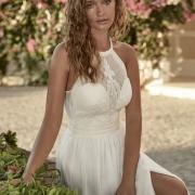 Turckheim vestido de boda con un elegante cuerpo de encaje para realzar el cuerpo de la novia de Si Quiero Bilbao