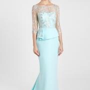 Elegante Vestido de Madrina de boda largo con parte superior transparente Si Quiero Bilbao