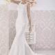 Quieres sorprender a todos el día de tu boda? Con el vestido Maxima de Si Quiero Bilbao lo lograrás, el corte sirena crea una armonía perfecta entre la proporción de hombros y cadera y la espectacular espalda semitransparente con bordado le dará un toque original