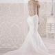 Elegante vestido Maxima de Si Quiero Bilbao de corte sirena y espectacular espalda semitransparente con bordado que hace realzar tu silueta